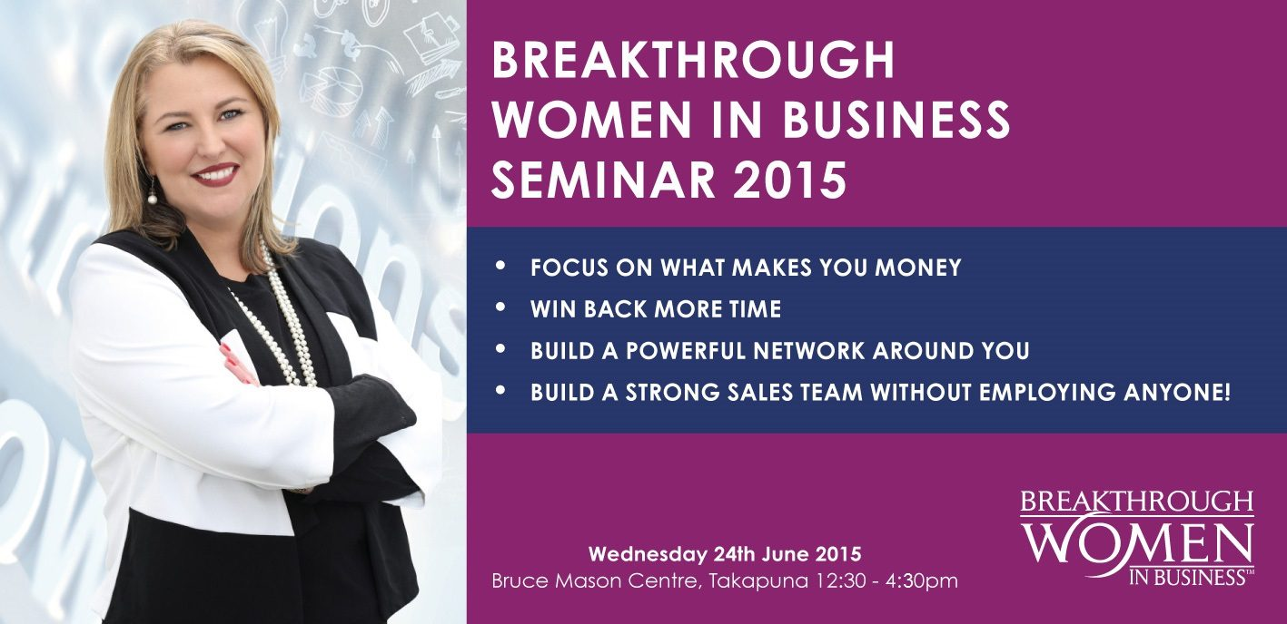 Seminar for business women Auckland