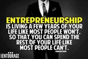 Inspirational quote small business owners